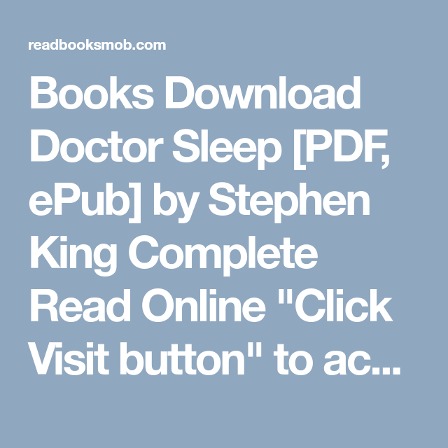 Books download doctor sleep pdf epub by stephen king complete books download doctor sleep pdf epub by stephen king complete read online fandeluxe Ebook collections