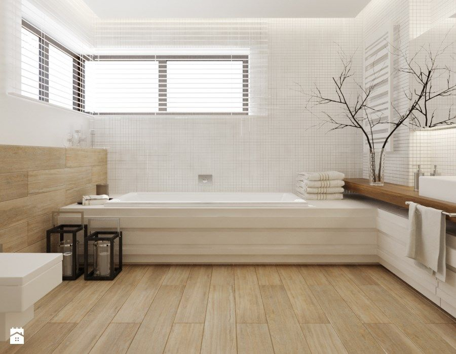 Schönes bad  Schönes, helles Bad -Fensteranordnung | Badezimmer | Pinterest ...
