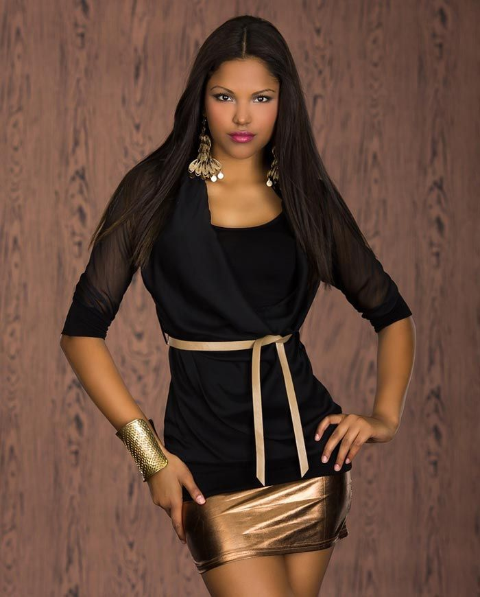 haut femme noir tendance manches longues en viscose par. Black Bedroom Furniture Sets. Home Design Ideas