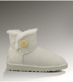 UGG Women'S Mini Bailey Button Boots Light Grey #ugg #women #mini #boots #bailebutton