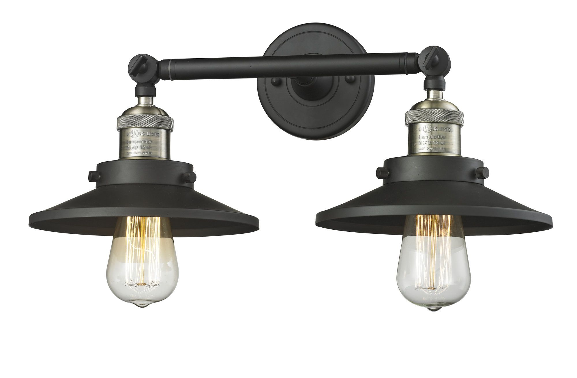 Railroad 2-Light Armed Sconce