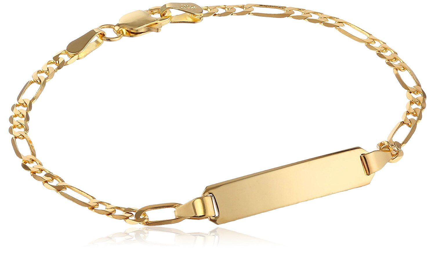 k Yellow Gold Figaro Baby ID Bracelet u Read more reviews of