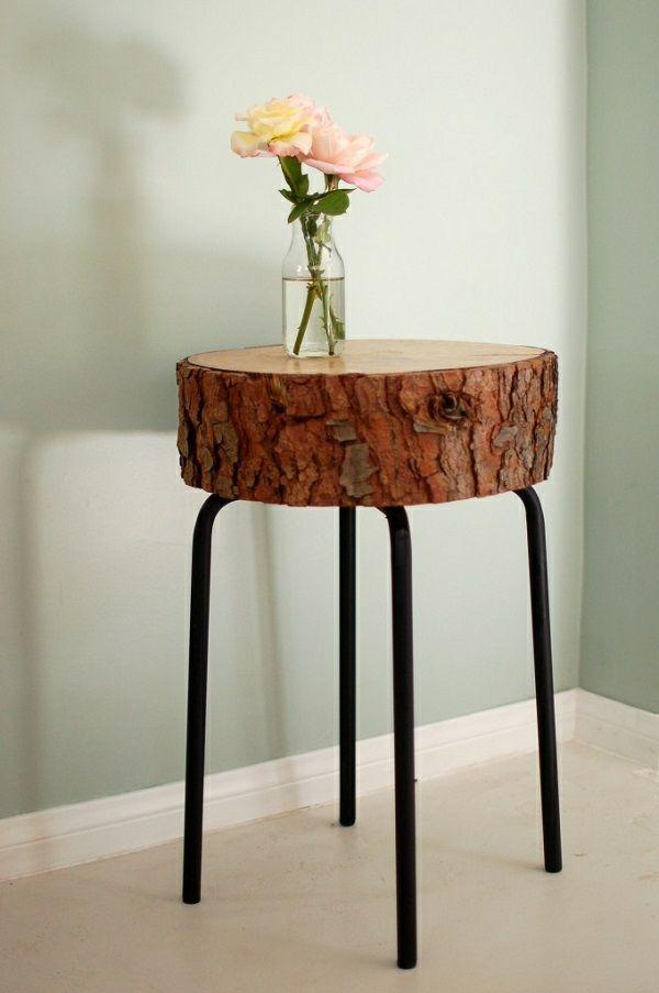 DIY Dekoideen mit Holzscheiben - Laden Sie die Natur nach Hause - wohnzimmer deko diy