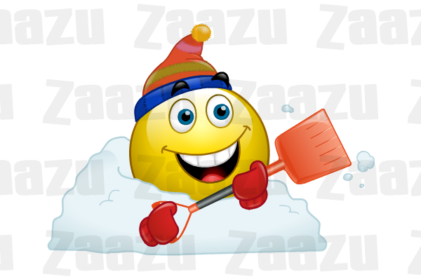 Snow Shovel Cold Weather Emoticons Smiley Emoji Faces Emoticon
