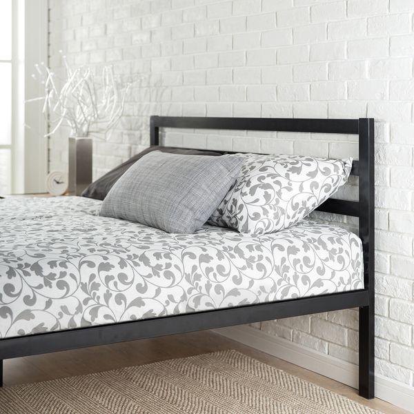 Priage Platform Queen Bed Frame with Headboard   Overstock.com ...