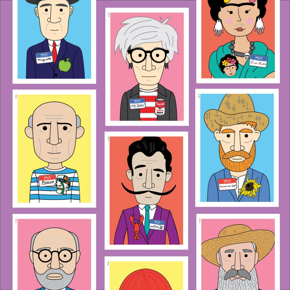 Lotta Famous Artist Name Tag Posters Famous Artist Names Famous Artists Kids Art Projects