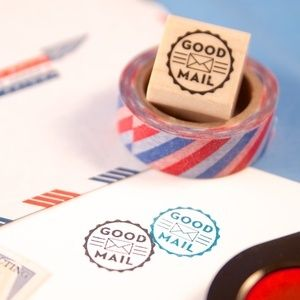 "Image of ""Good Mail"" Round Rubber Stamp 2014"