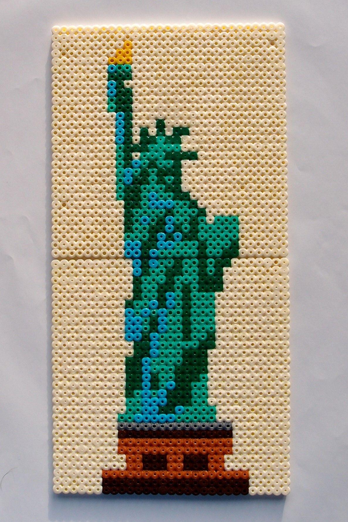 Hama Perler Beads Frihedsgudinden Statue Of Liberty By Nina V