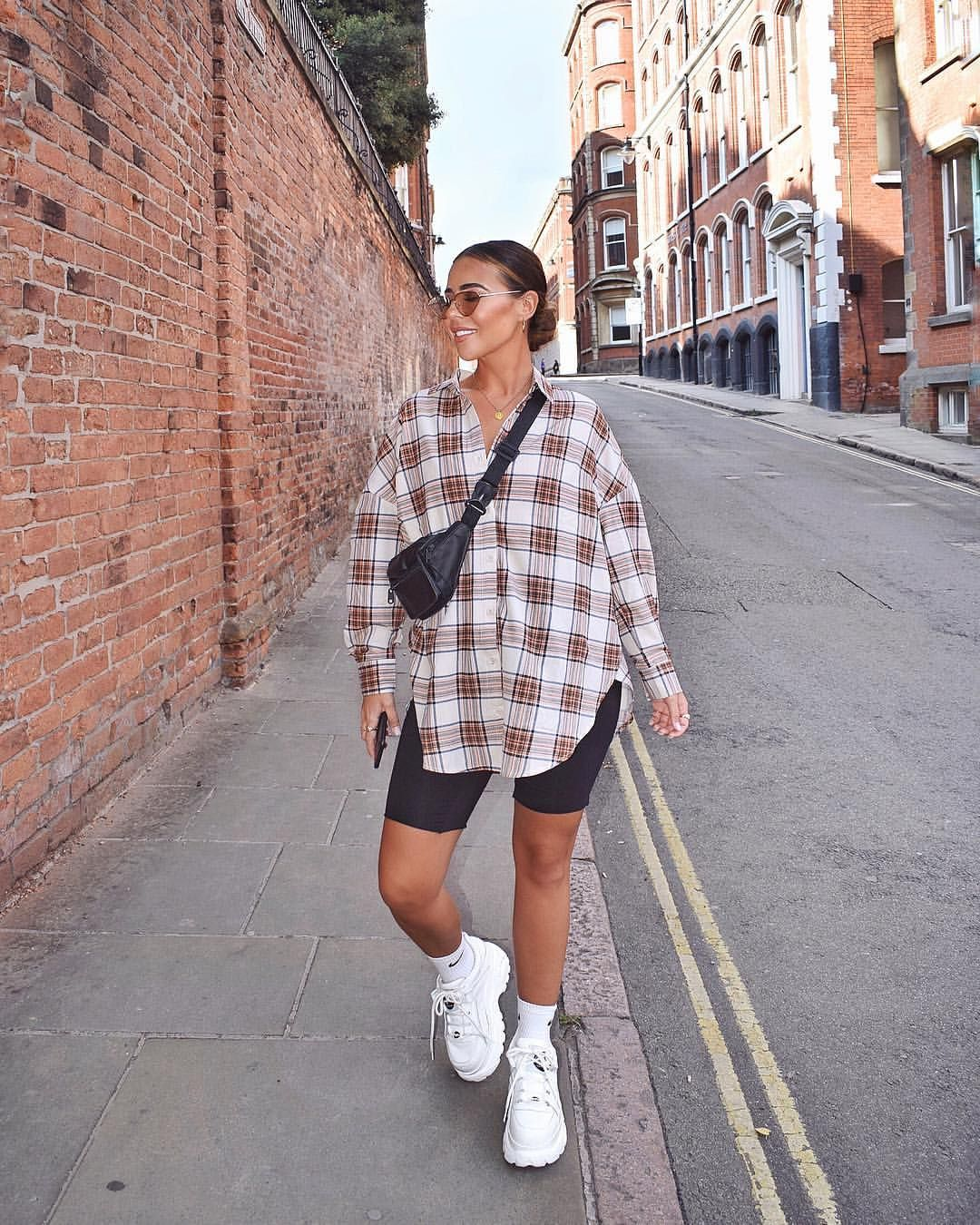 Just me, here, in another checked shirt Shirt - @boohoo (I just put