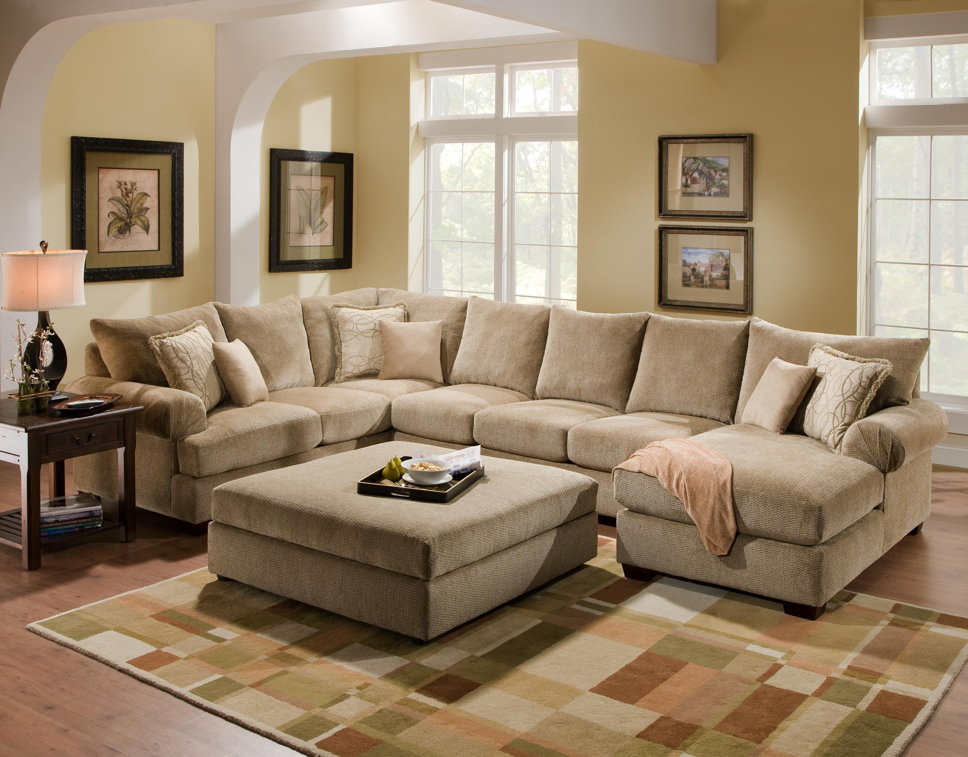 4510 Casual Sectional Sofa Group with Chaise by Corinthian - Conlinu0026#39;s Furniture - Sofa Sectional ...