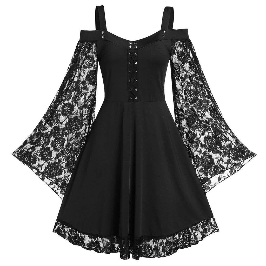 Gothic Kleid Damen Steampunk Kleid Chiffon Kleid Sommerkleid ...