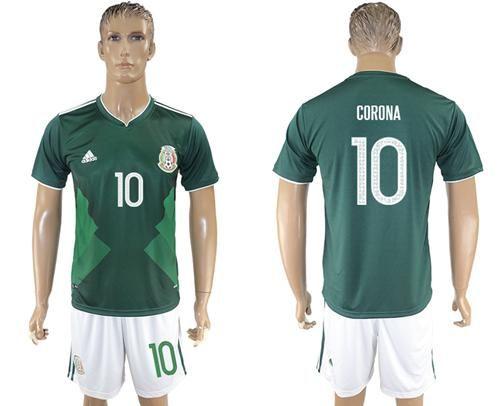 2017 2018 Mexico 10 Corona Green Home Soccer Country Jersey Mexico Soccer Jersey Jersey Soccer