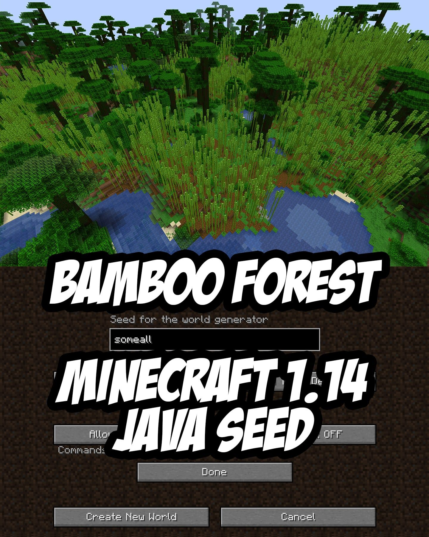 Bamboo Forest Seed For Minecraft Java Edition 114 Or Higher