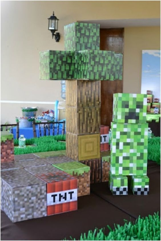 Minecraft Birthday Party Decorations Spaceshipsandlaserbeams