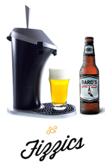 TOSS OUT THE KEGERATOR AND WELCOME FIZZICS—GIVING DRAFT BEER TASTE TO A STORE-BOUGHT BEER  http://www.hometronics-hints.com/toss-out-the-kegerator-and-welcome-fizzics-giving-draft-beer-taste-to-a-store-bought-beer/