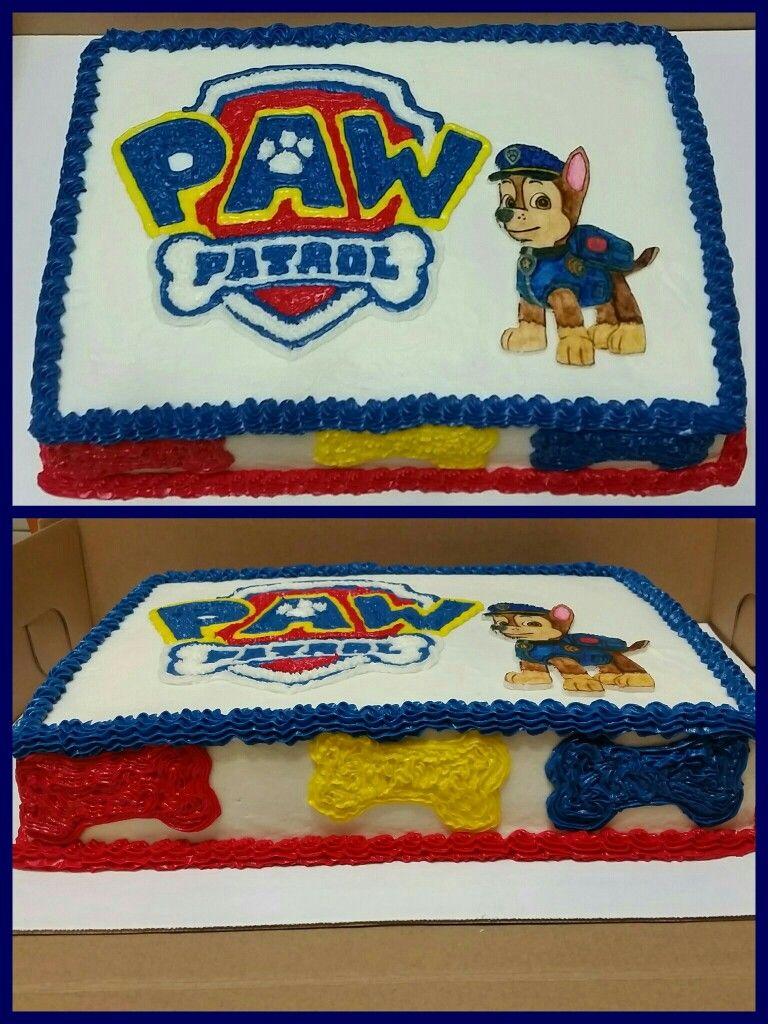 Skye Paw Patrol Cake Buttercream Rosette Cake With Fondant