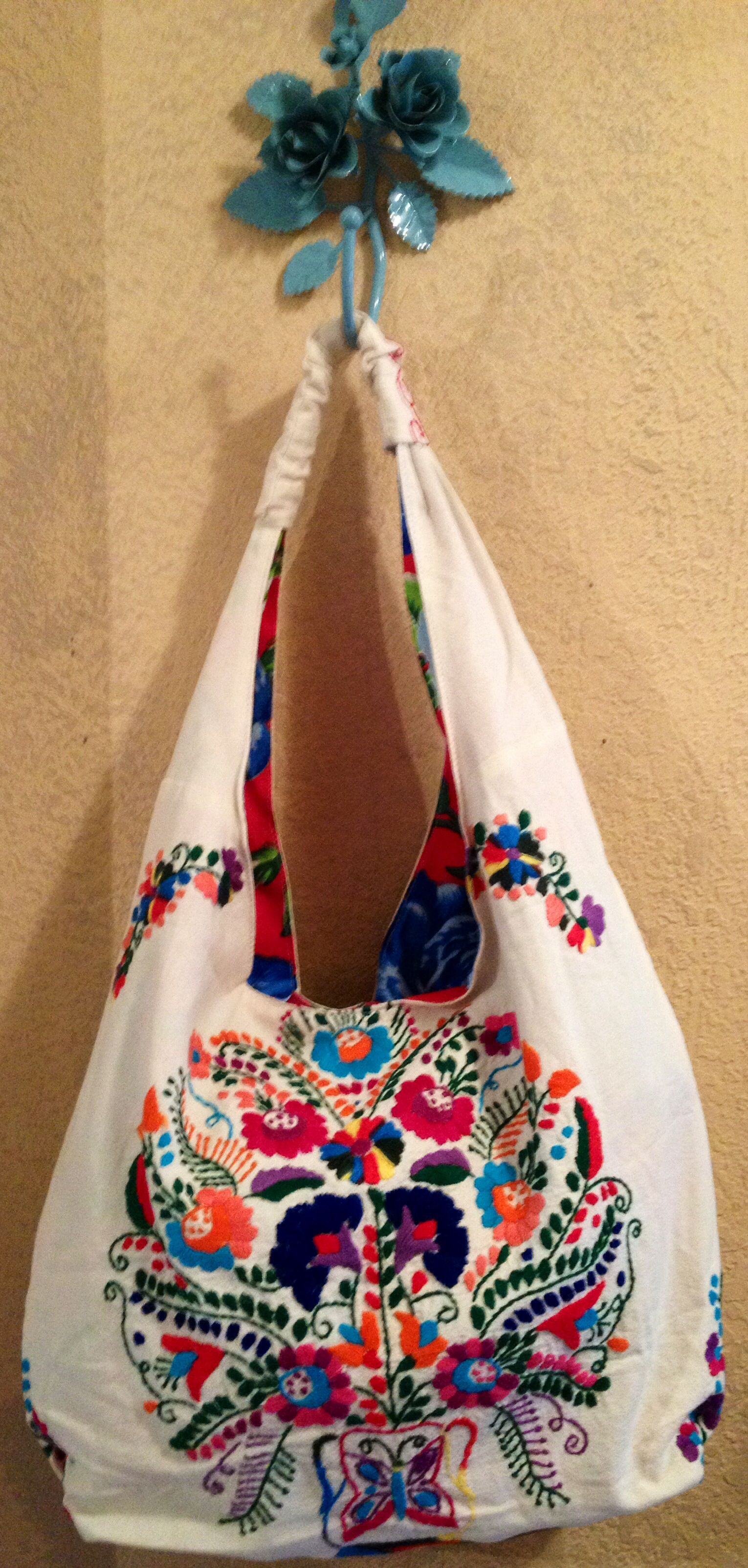 Embroidered Bag By Erica Maree At Nest Vintage Johnson City Tx Gypsy Boho Style Made From Mexican Dresses