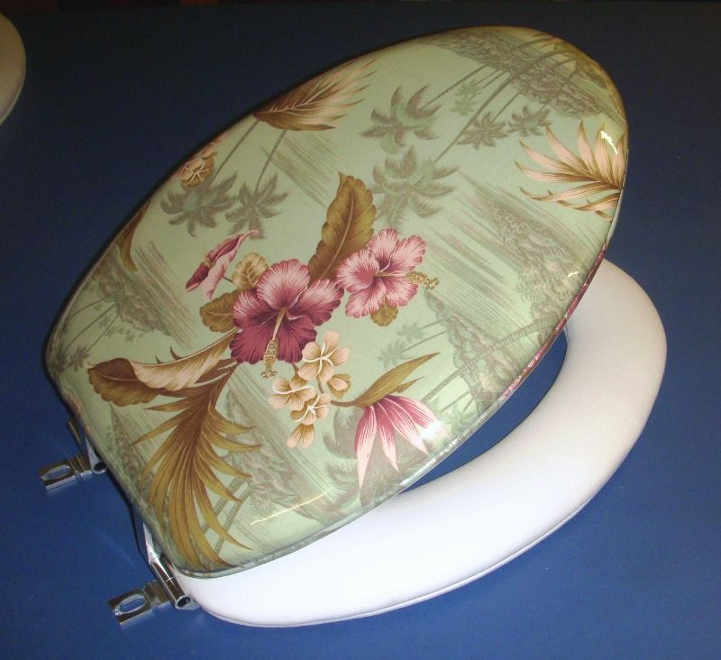 New Sage Palms Design in our Cloud Soft padded toilet seats by World ...