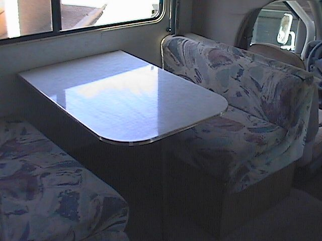 Rv Table Bed The Dinette Table Folds Down For Another