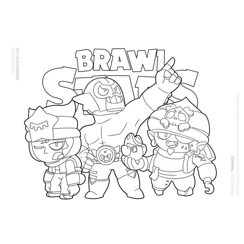 coloriage fr coloriage a imprimer brawl stars