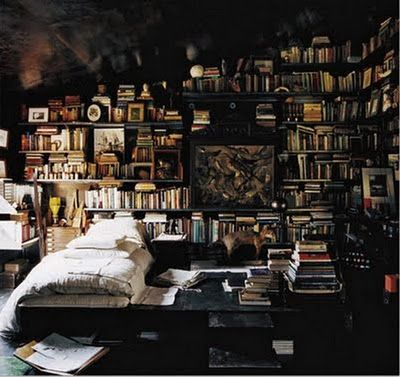 I love books. I love them so much that I want a room which will be full of them. I'm sure that will be the comfiest place in the world for me.
