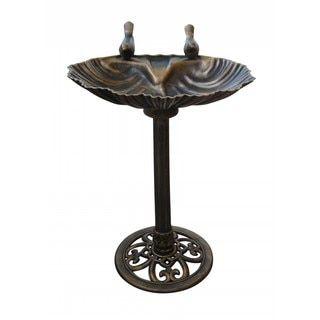 bronze colored birdbath with 2 birds bird bath bird on extraordinary garden path and walkway design ideas and remodel two main keys id=66014