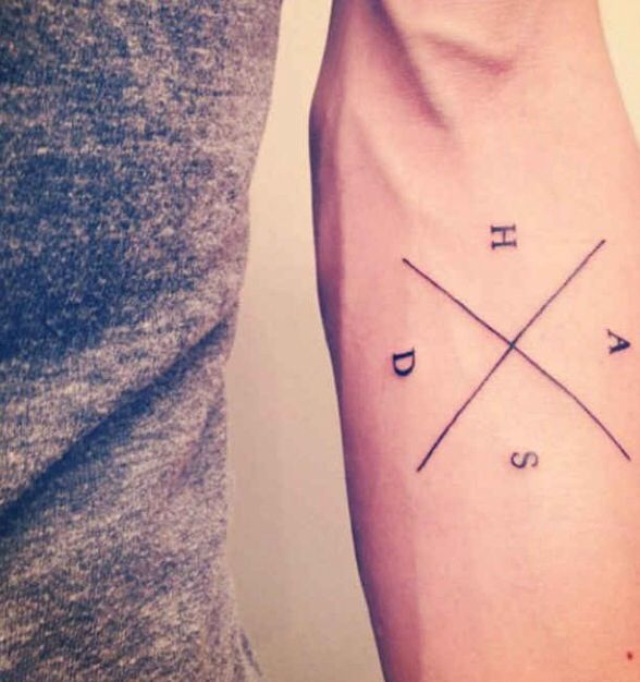 1d93d71b4 Cool design for initials of children, family members, or friends Tattoo  Inspiration, Typography