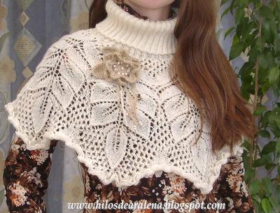 Cuello abrigado en 5 agujas con flores al crochet | Aprender manualidades es facilisimo.com