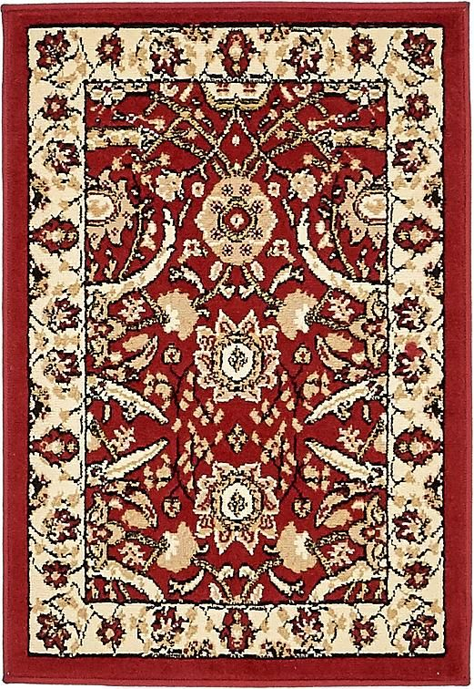 Red Isfahan Design Area Rug