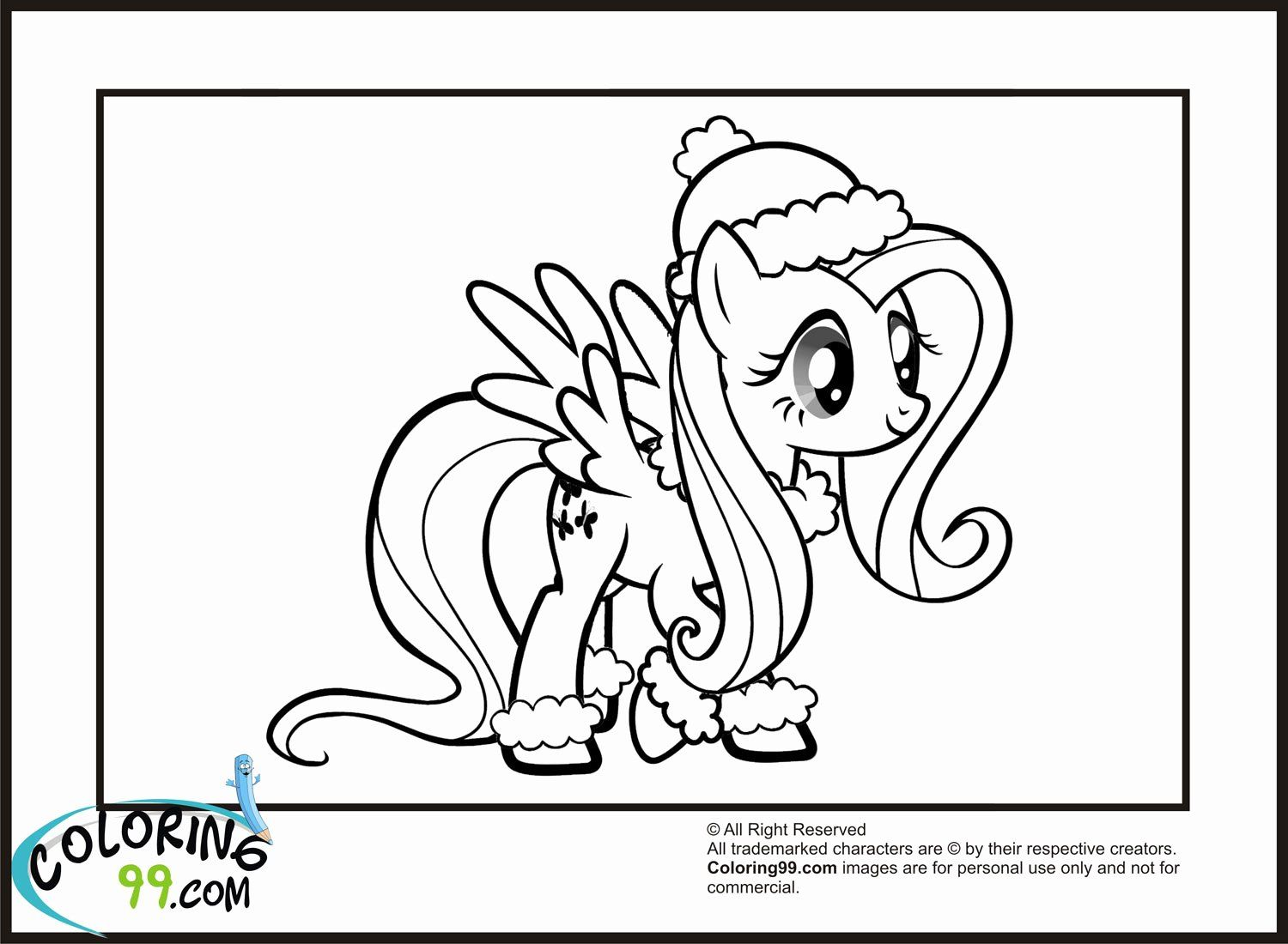 Winter Magic Coloring Book New My Little Pony Fluttershy Coloring