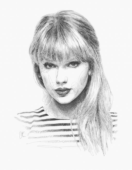 Taylor Swift Drawing   Drawn   Drawing y Dessin