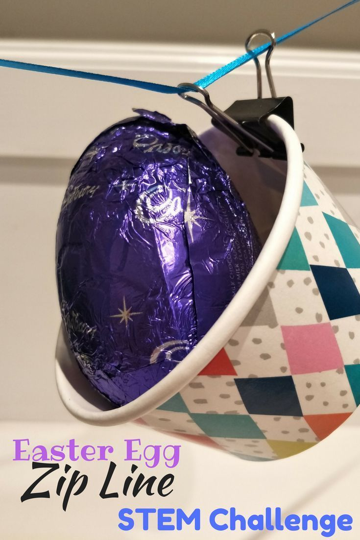 STEM Activities Easter Egg Zipline Can you deliver an Easter Egg safely across a room Use your engineering design skills to create a Zip Line that travels across a room