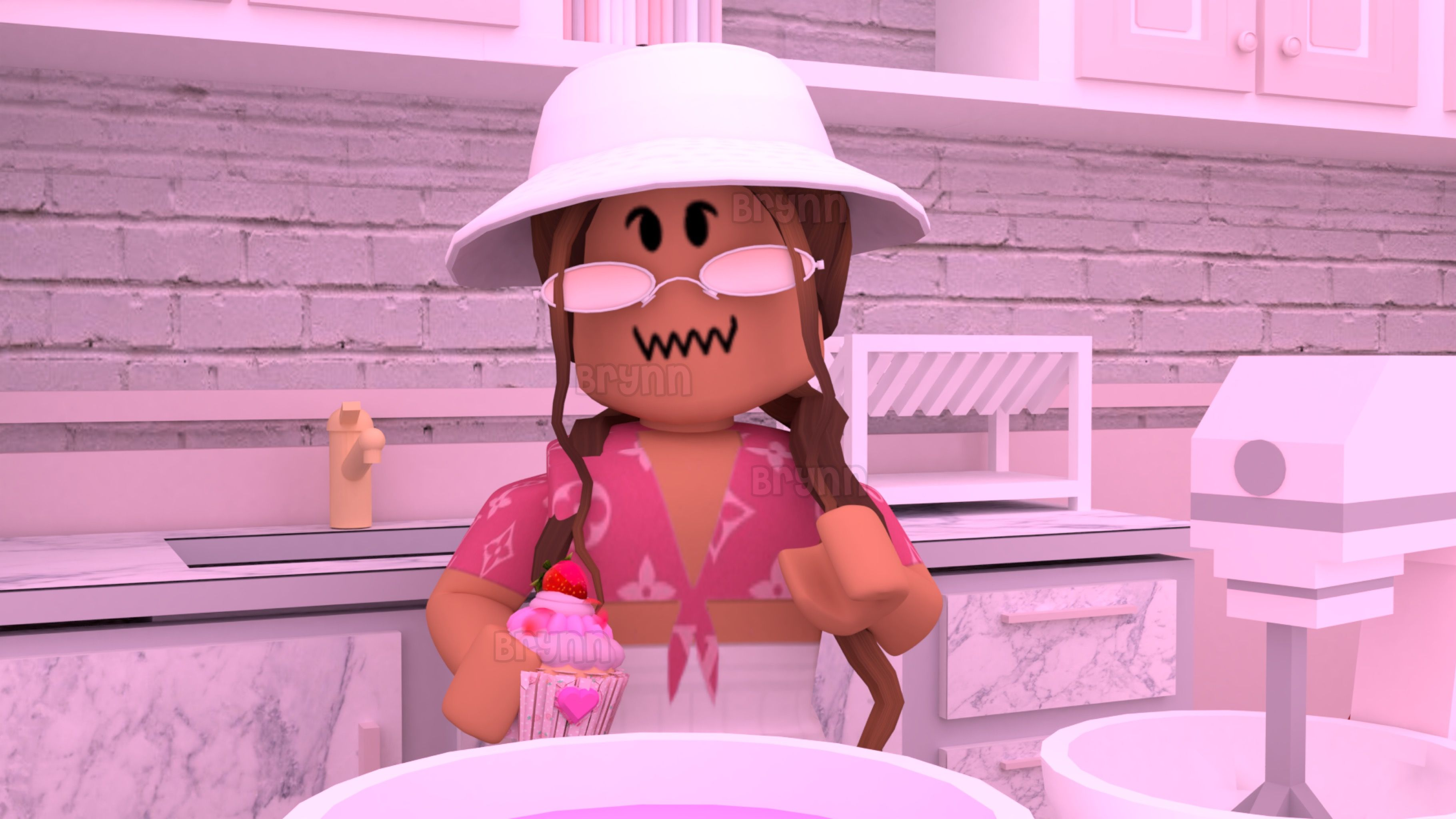 Pink Cupcake Gfx Cute Tumblr Wallpaper Roblox Animation Roblox Pictures