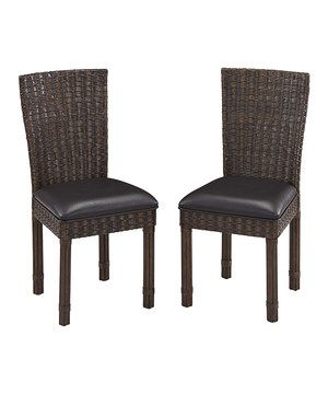 Take a look at this Dark Chocolate Castaway Dining Chair - Set of Two on zulily today!