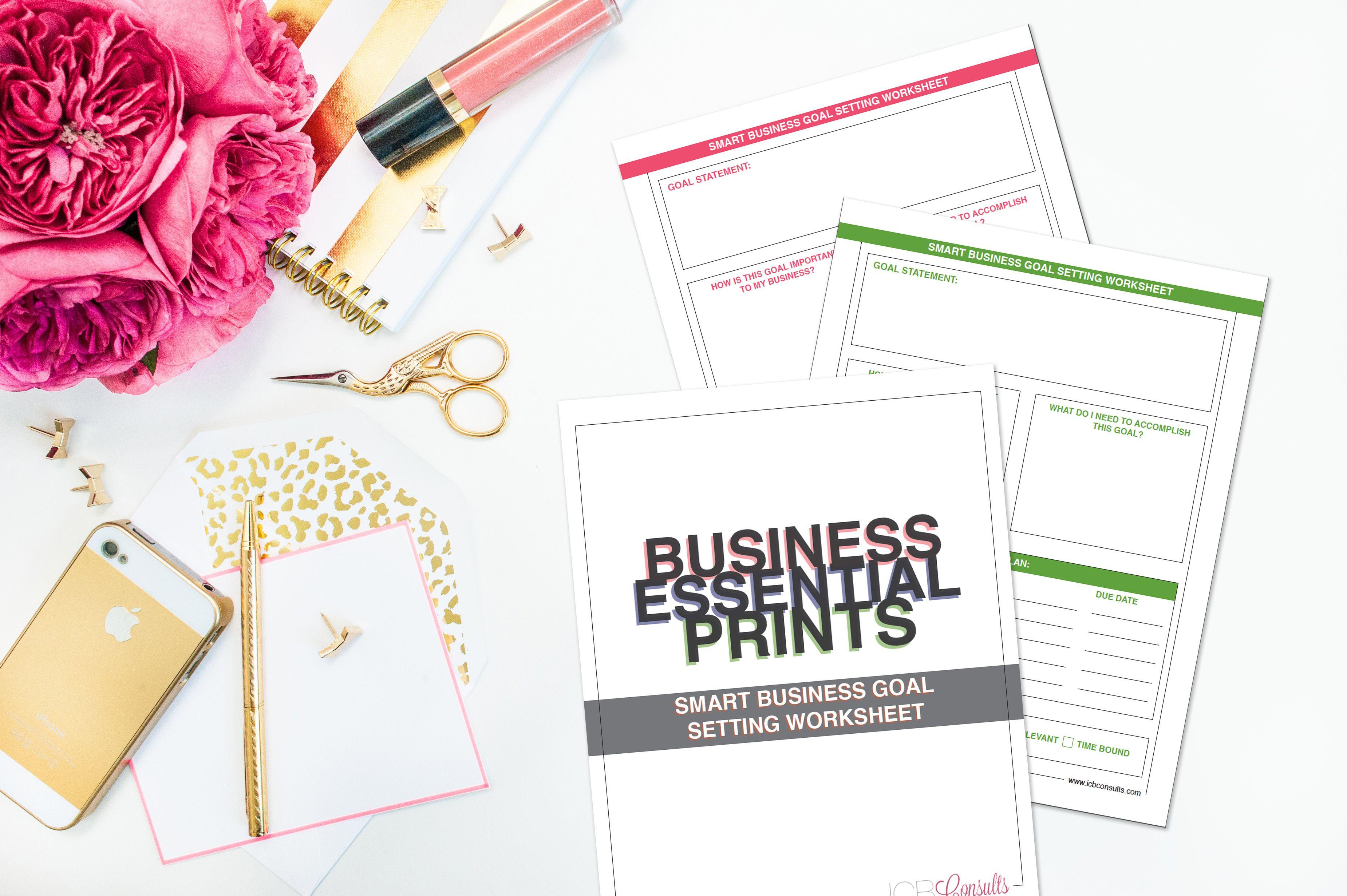 Smart Goals Worksheet  Business Worksheets Guides Kits And More