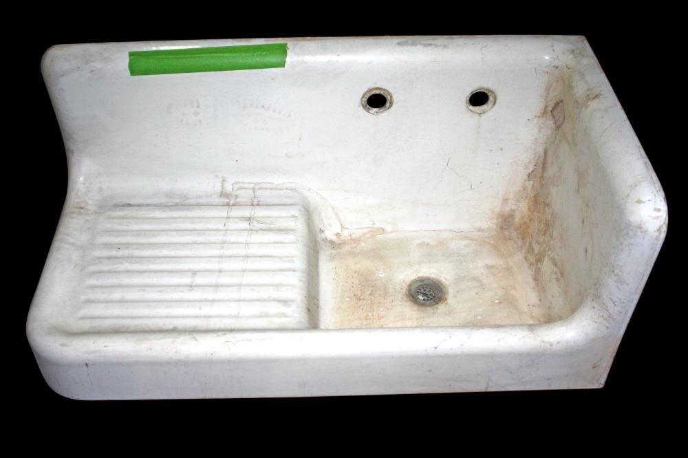 Sink With Drain Board Olde Good Things Vintage Sink Vintage Bathroom Sinks Sink