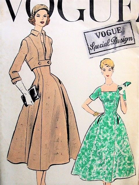 4d329353a10 1950s BEAUTIFUL Dress and Bolero Jacket Pattern VOGUE Special Design 4770  Wedding Cocktail Party Evening Dress Figure Flattering Style Bust 36  Vintage ...