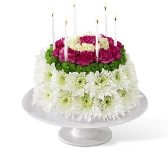 Fun Flower Cake Available On Our Website Helen Blakey Flowers Toronto