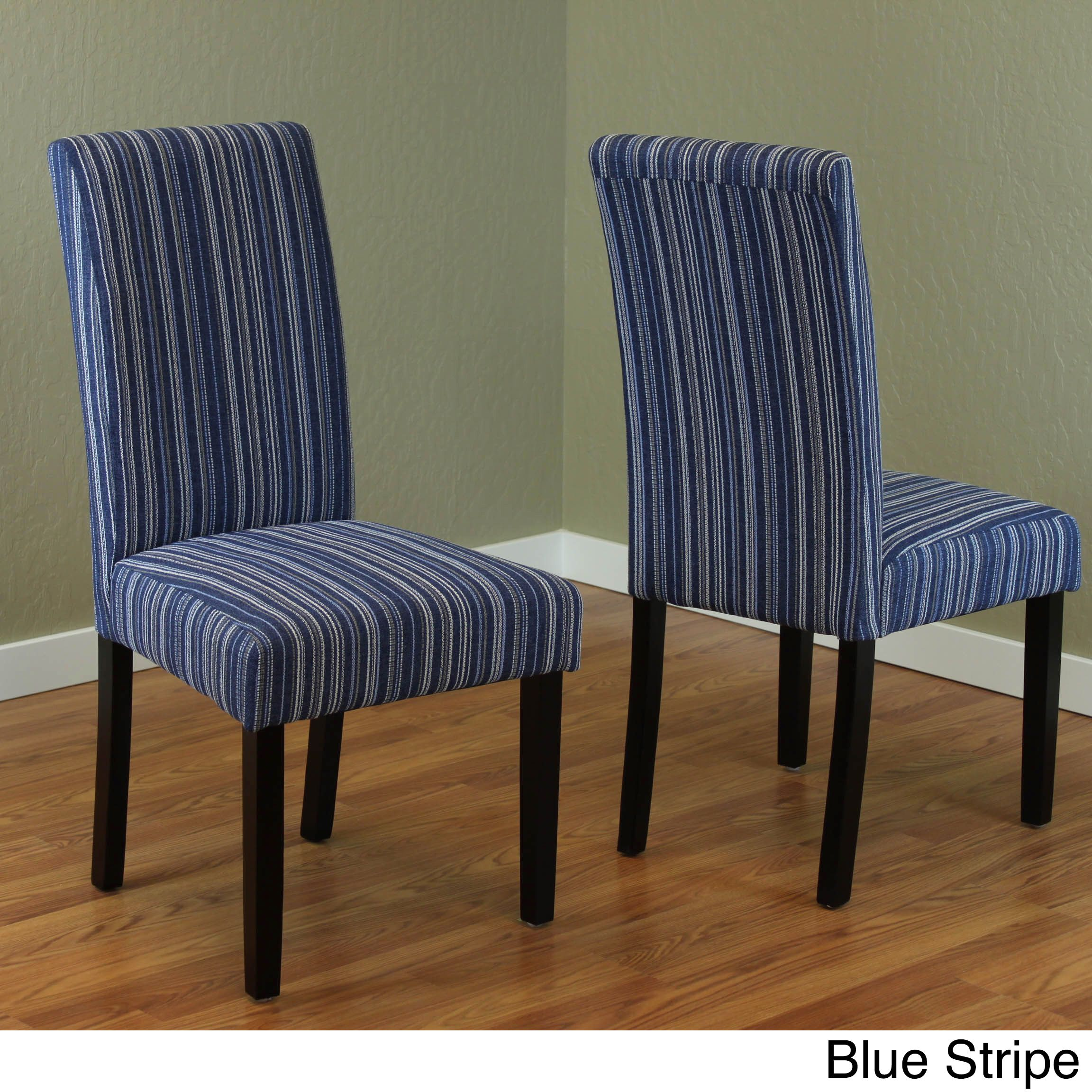 Best Monsoon Seville Stripe Fabric Dining Chairs Set Of 2 640 x 480