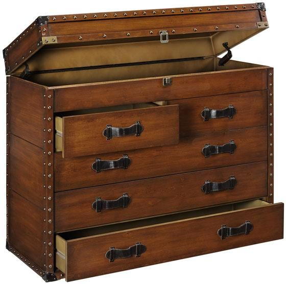 Steamer Trunk Cabinet - Console Tables - Entryway Furniture ...
