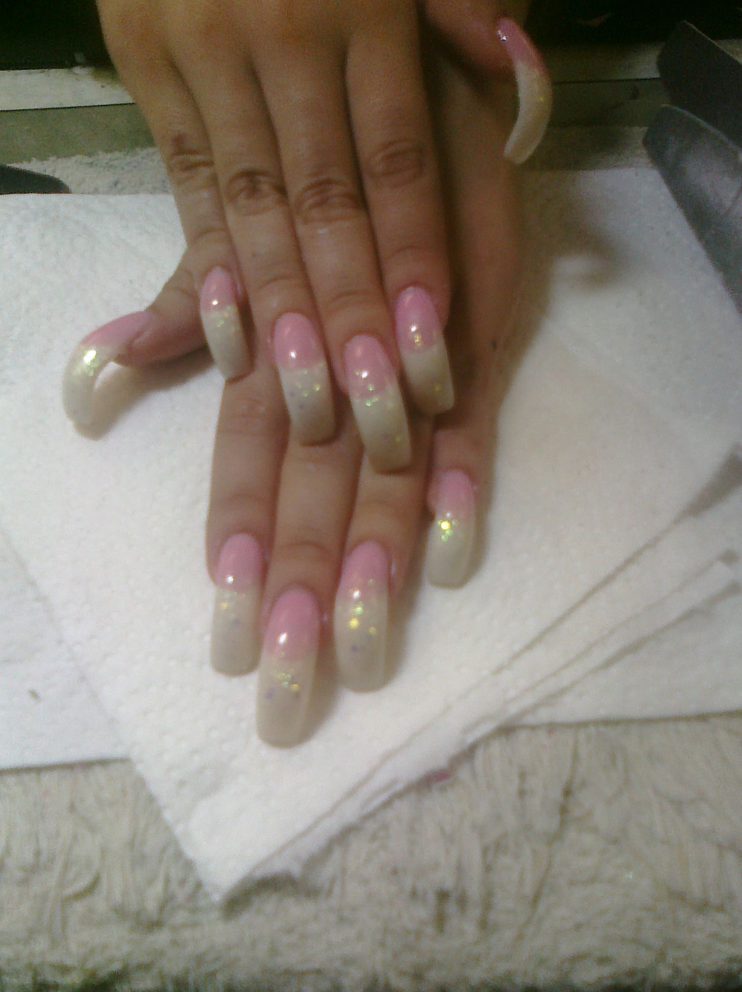 Acrylic Nail Designs Gel Nails Glitter Acrylics French