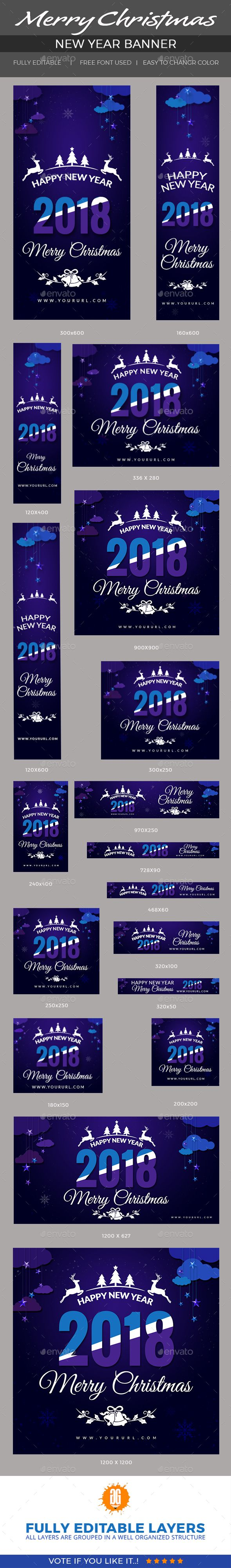 christmas and new year banners promote your products and services with this great looking christmas and new year banners18 christmas and new year banners