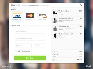 Credit Card Checkout Sketch Website Website Template