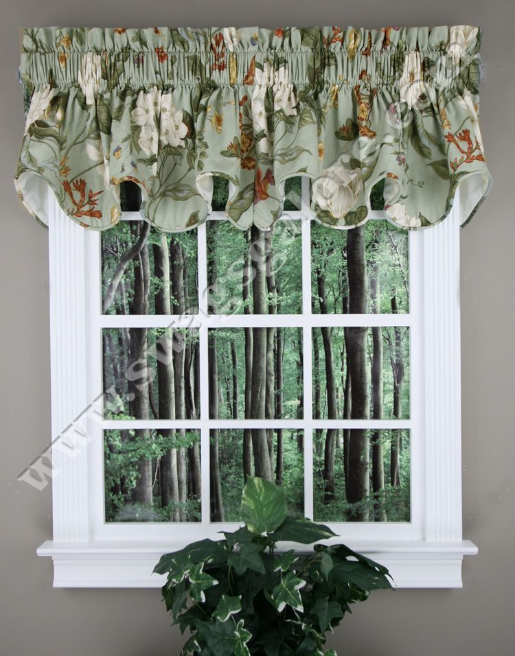 Ordinaire Garden Images A High End Well Made Fully Lined U0026 Corded Valance. 100%  Cotton. Popular Waverly Pattern. #Country #Kitchen #Curtains