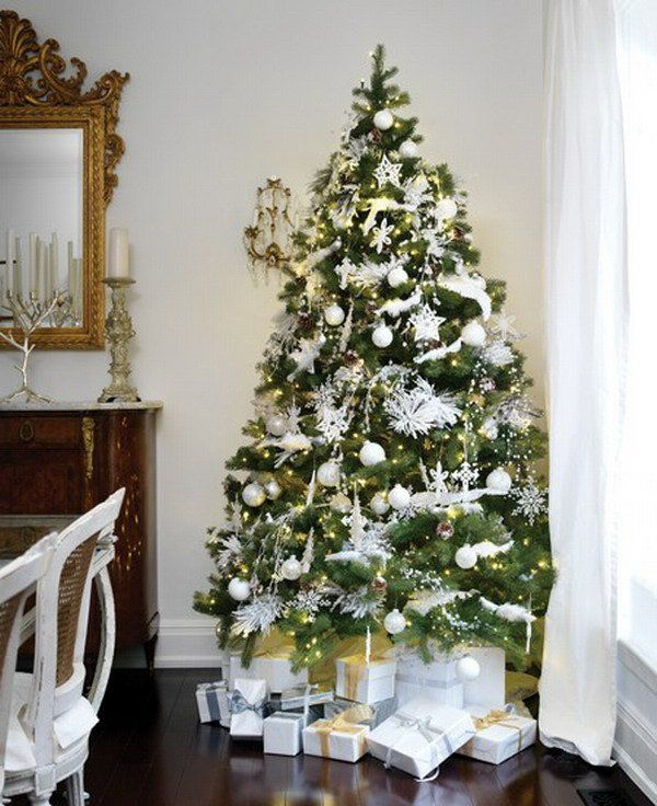 weihnachtsbaum dekorieren weiss. Black Bedroom Furniture Sets. Home Design Ideas