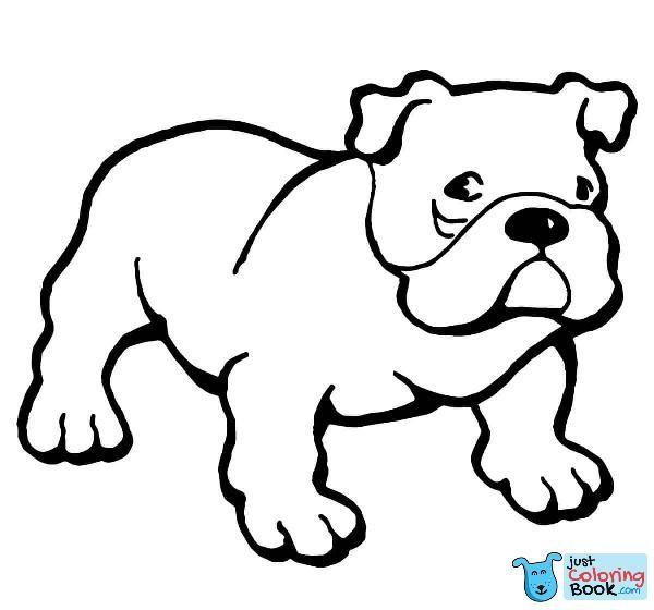 English Bulldog Coloring Pages Taken