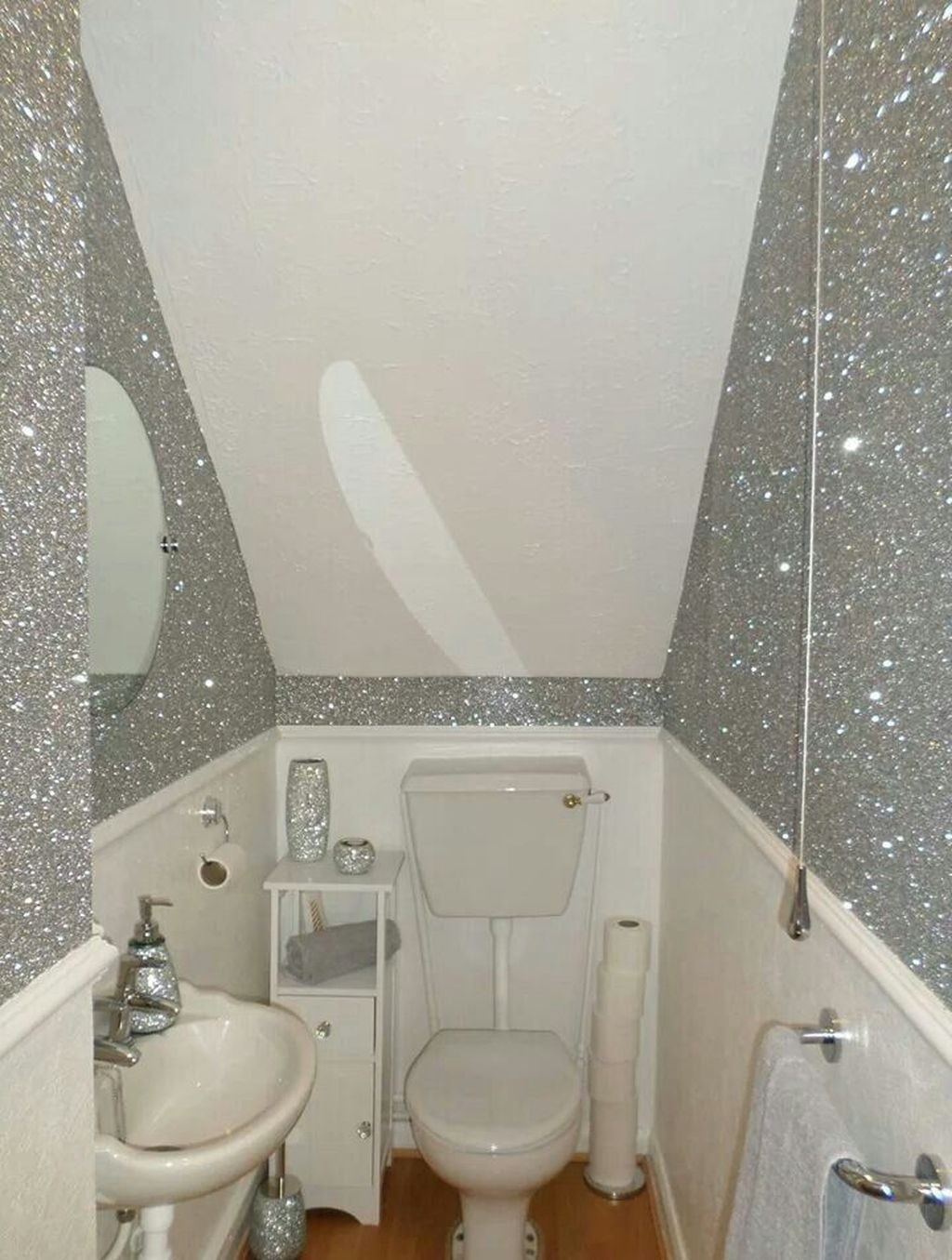 Vintage Glitter Wall Paint Design Ideas For Your Room03