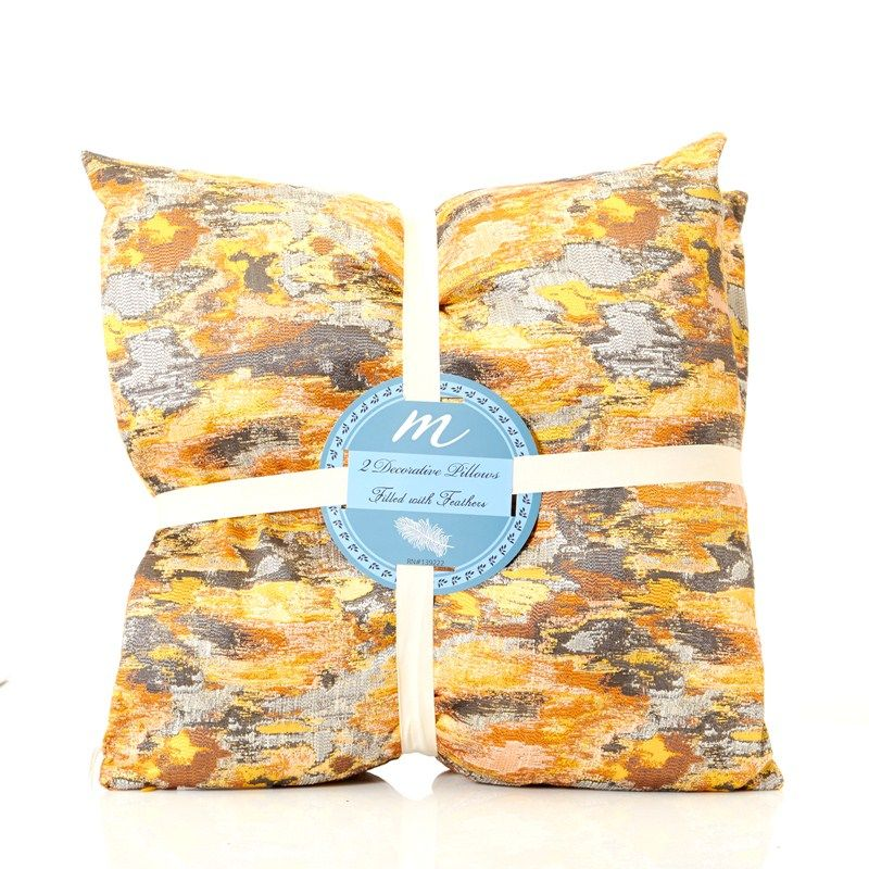 Burlington Coat Factory Home Decor: 2pk Abstract Print Feather Pillows Burlington Coat Factory