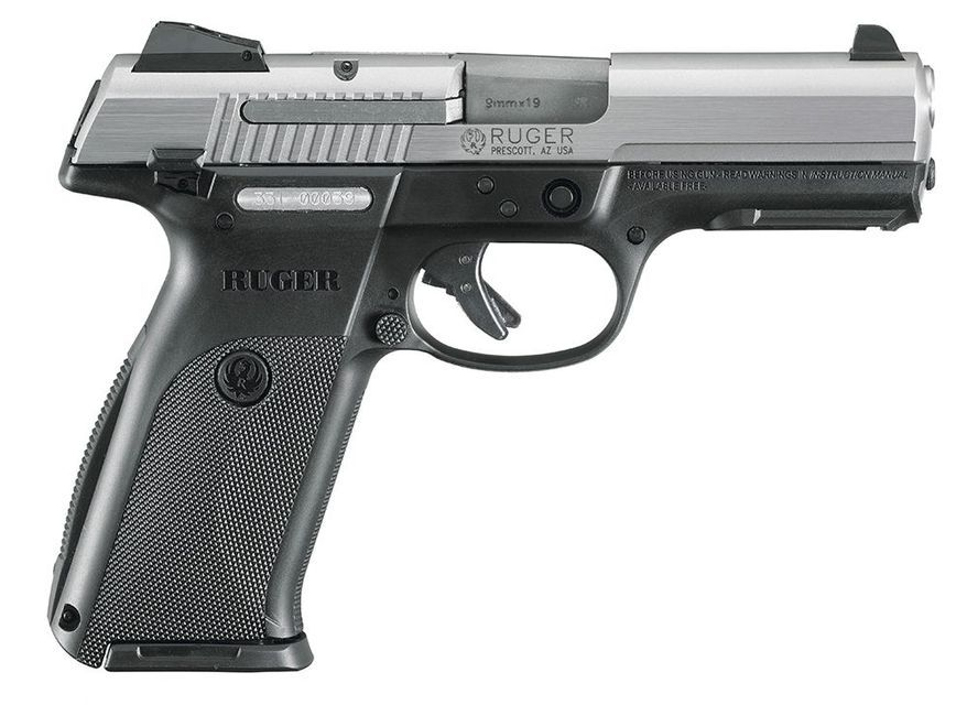Ruger SR-Series pistols are perfectly sized to be comfortable and controllable with slim, ergonomic grips and  narrow slides. A short reach from the back strap to the trigger creates a comfort level that will challenge any standard-sized, striker-fired pistol available today. The structurally rigid, recoil-reducing, glass-filled nylon frames and alloy  or stainless steel slides combine to create low-maintenance, rugged and reliable handguns.  These handguns are valued at approximately $450.
