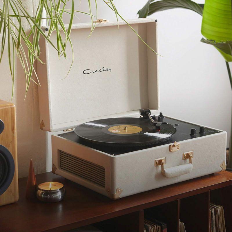 Cream Crosley X UO AV Portable USB Vinyl Record Player CR6249U-UW1 Rose Gold